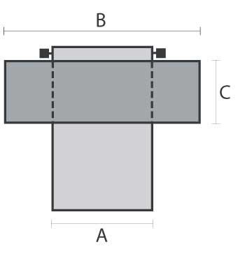 Ansatzteil mit Kragen/Regenzarge, 30 mm Isolation