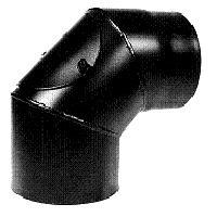Bogen 90° steckbar roh St. 37/2 mm, fest mit Putzdeckel