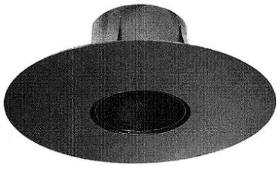 Wand- und Deckenanschluss St. 37/2 mm, mit Rosette rund