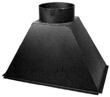 Rauchfang St. 37/2 mm, mit Rauchabgang Dm 250 mm
