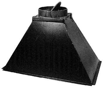 Rauchfang St. 37/2 mm, mit Klappe Dm 200 mm