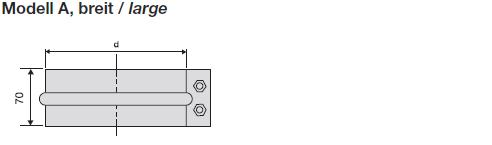 Verbindungsbriden V4A breit
