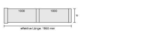 V4A-Rohr in Sonderlänge, blank L=2000 mm