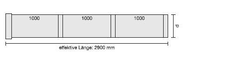 V4A-Rohr in Sonderlänge, blank L=3000 mm