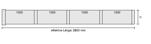V4A-Rohr in Sonderlänge, blank L=4000 mm