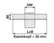 Kaminkopf-Abdeckung eckig
