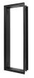 CB Einbaurahmen hochkant putzbündig schwarz