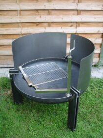 Grill-Feuerschale Stahl 4