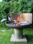 Feuerschale Stahl mit Sockel und Platte